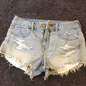 New American Eagle Distressed Jean Shorts
